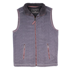 Herringbone Fleece Full Zip Vest - True Grit - The Sherpa Pullover Outlet