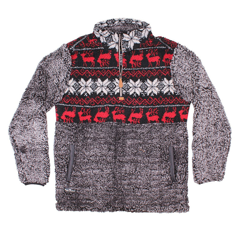 Deer Sherpa Pullover - Simply Southern - The Sherpa Pullover Outlet