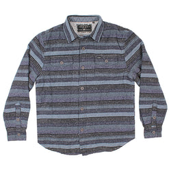 Textured Stripe Shirt Jacket with Sherpa Lining - FINAL SALE - True Grit - The Sherpa Pullover Outlet