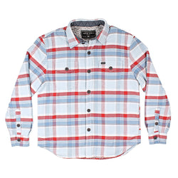 Big Sky Plaid Shirt Jacket with Sherpa Lining - True Grit - The Sherpa Pullover Outlet
