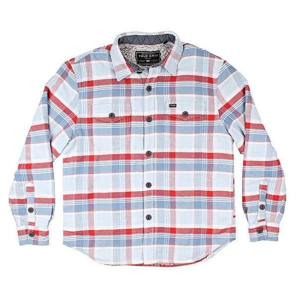 Big Sky Plaid Shirt Jacket with Sherpa Lining - The Sherpa Pullover Company
