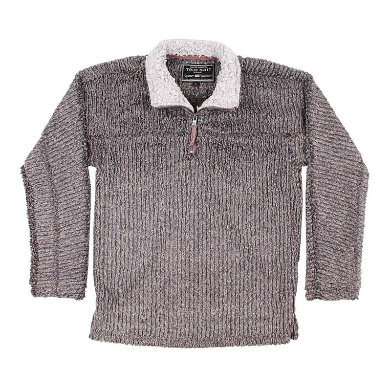 Frosty Cord Pile 1/4 Zip Pullover - True Grit - The Sherpa Pullover Outlet