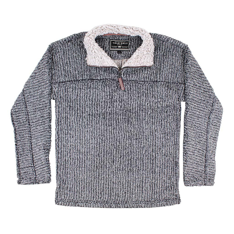 Frosty Cord Pile 1/4 Zip Pullover - The Sherpa Pullover Company