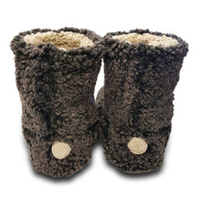 Live Oak Sherpa Fleece Booties in Charcoal and Oatmeal