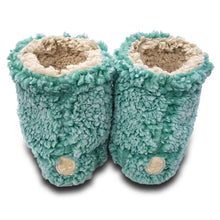 Live Oak Sherpa Fleece Booties in Island Reed and Oatmeal