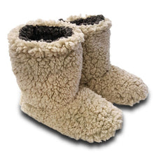 Live Oak Sherpa Fleece Booties in Oatmeal and Charcoal