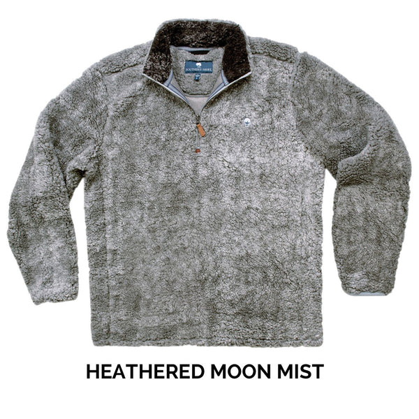 Heathered Quarter Zip Sherpa Pullover - FINAL SALE - The Southern Shirt Co. - The Sherpa Pullover Outlet