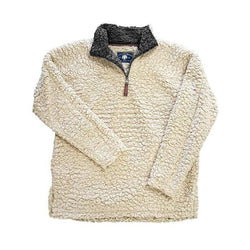 Quarter Zip Fleece Sherpa - Live Oak - The Sherpa Pullover Outlet