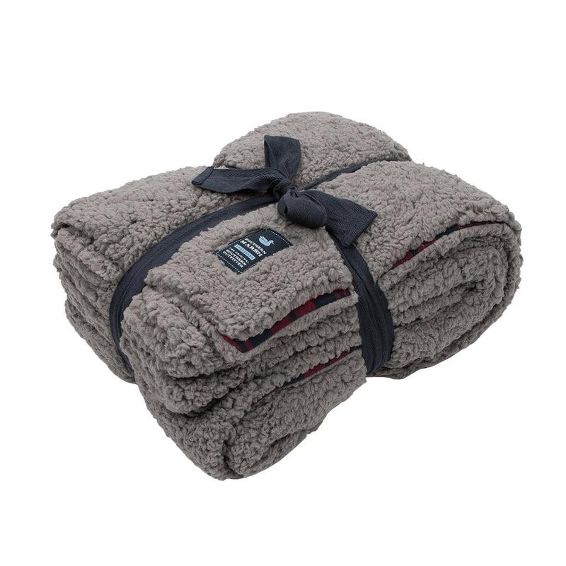 Watson Pile Sherpa Blanket - Southern Marsh - The Sherpa Pullover Outlet