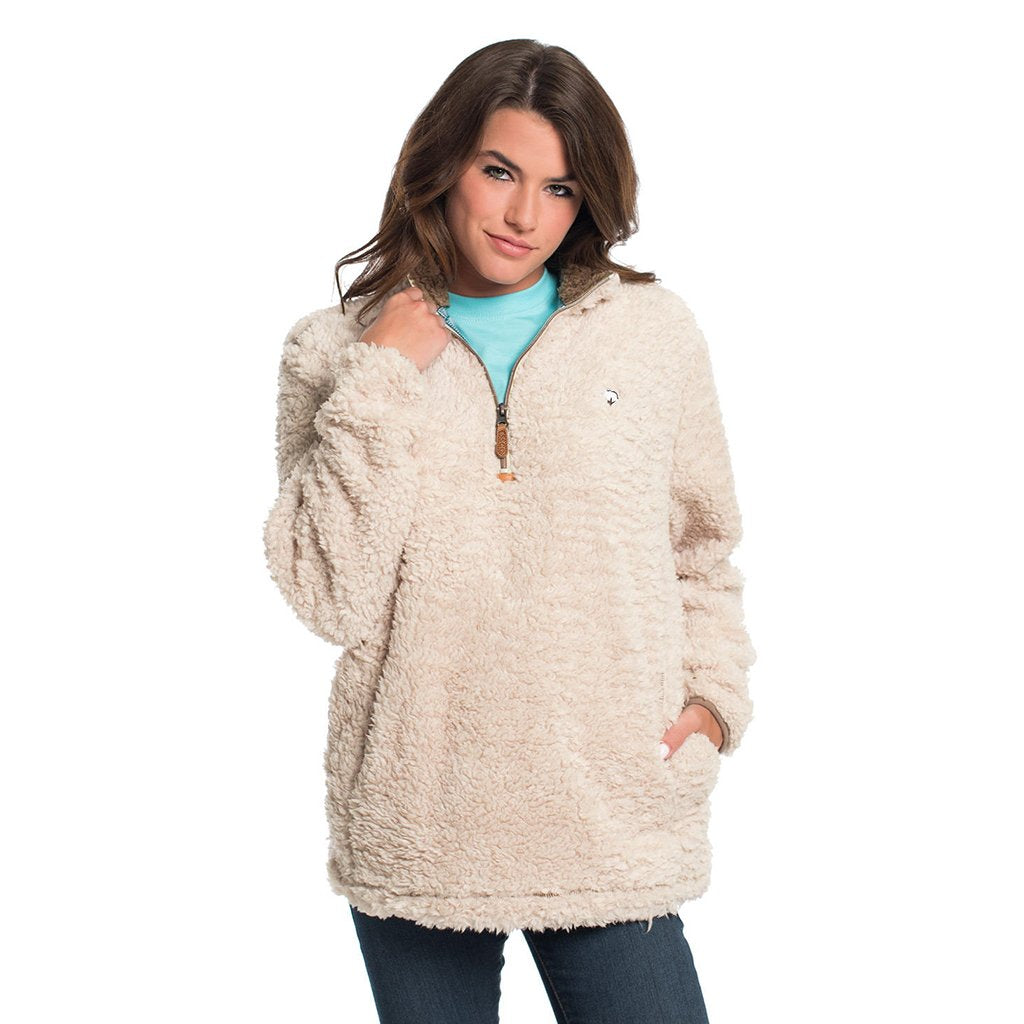 New The Southern Shirt Co. Sherpa Pullover with Pockets – Sherpa  TU61