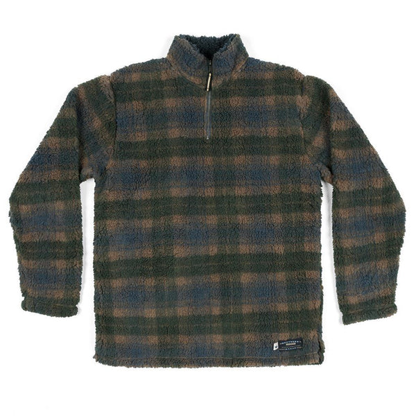 Andover Plaid Sherpa Pullover - FINAL SALE - Southern Marsh - The Sherpa Pullover Outlet
