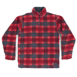 Andover Plaid Sherpa Pullover - Southern Marsh - The Sherpa Pullover Outlet