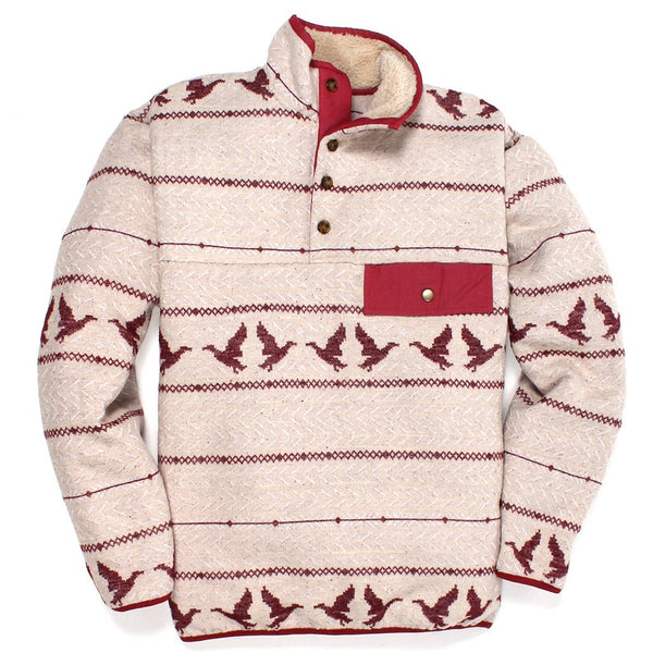Duck Call Sherpa Lined Pullover - Southern Proper - The Sherpa Pullover Outlet