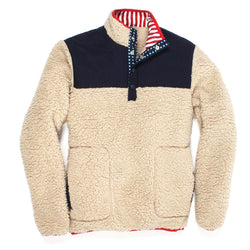 Old Glory Sherpa Pullover - FINAL SALE - Southern Proper - The Sherpa Pullover Outlet