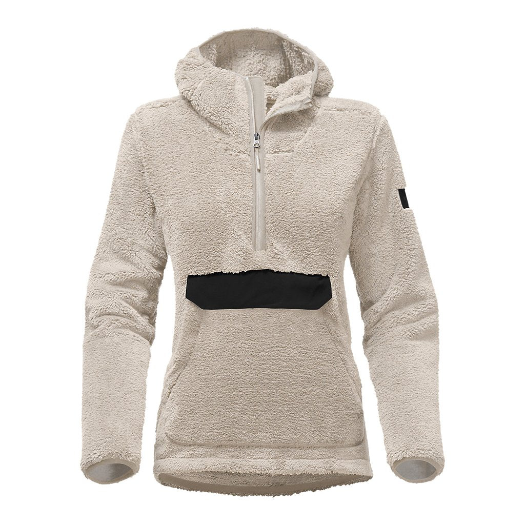 The North Face Women's Campshire Sherpa Fleece Pullover Hoodie in Vintage White