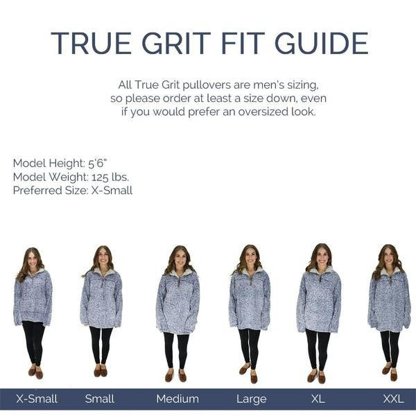 Pebble Pile Pullover - True Grit - The Sherpa Pullover Outlet