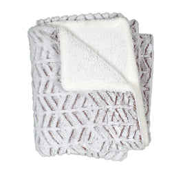 Stavanger Double Texture Sherpa Blanket by Nordic Fleece - Nordic Fleece - The Sherpa Pullover Outlet