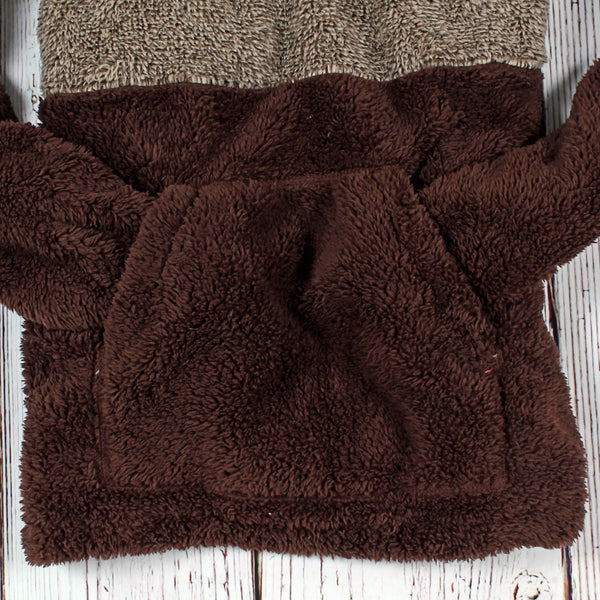 Two-Toned Kangaroo Pullover - The Sherpa Pullover Company