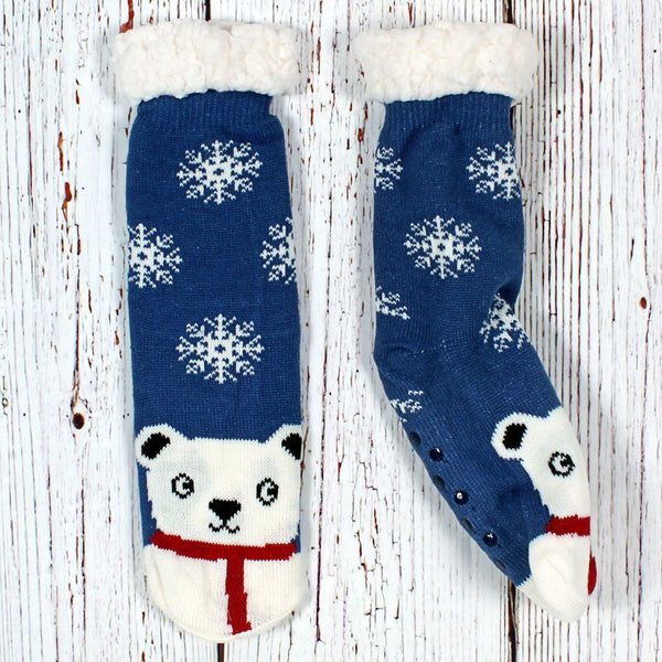 Nordic Fleece Bob the Polar Bear Sherpa Lined Socks by Nordic Fleece