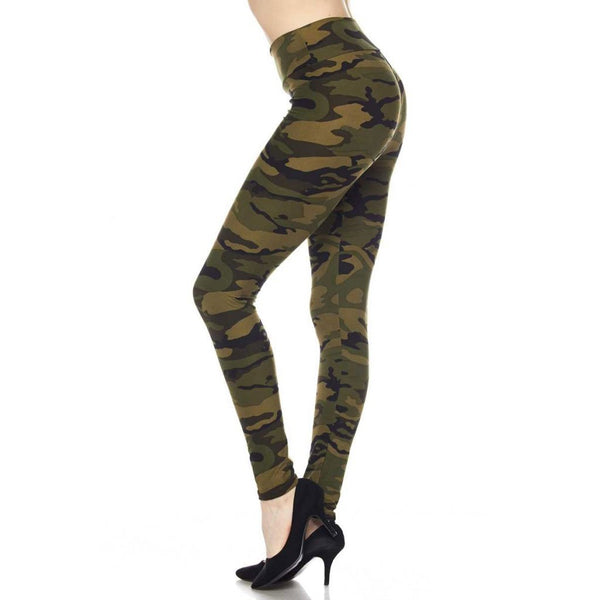 Olive Camo Leggings by Queens Designs - Queen Designs - The Sherpa Pullover Outlet