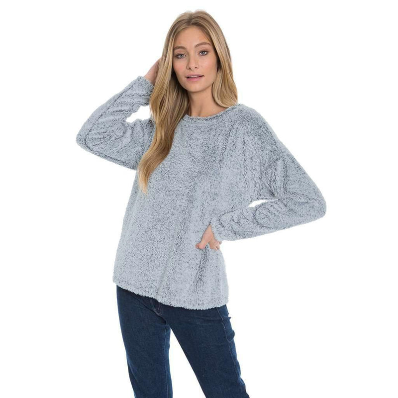 Cuddly Up Crew Shag Sherpa - Dylan - The Sherpa Pullover Outlet