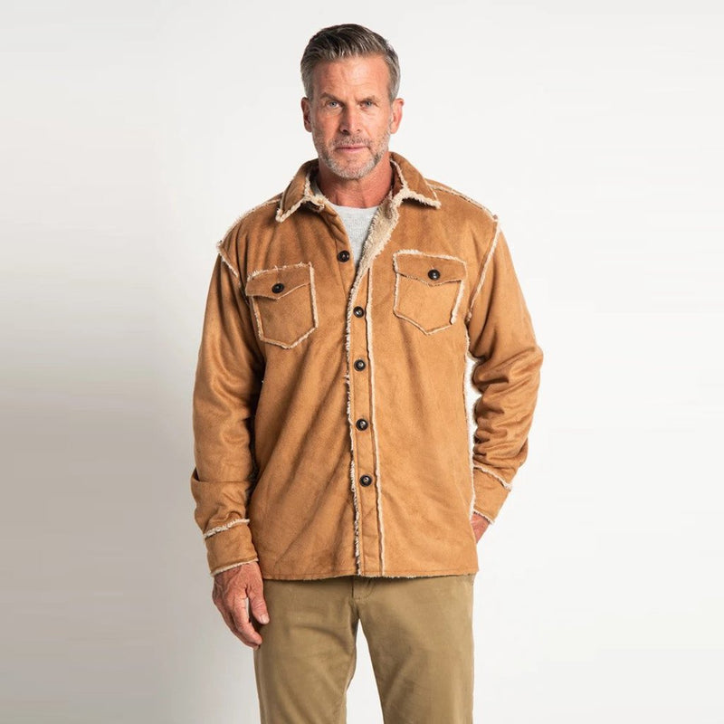 True Grit Vintage Washed Sherpa Button Jacket by True Grit