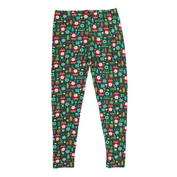 Jolly Saint Nick Leggings - Queens Designs - The Sherpa Pullover Outlet
