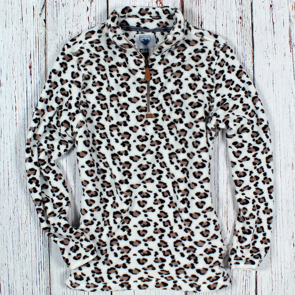 Oslo Leopard Fleece Pullover - Nordic Fleece - The Sherpa Pullover Outlet