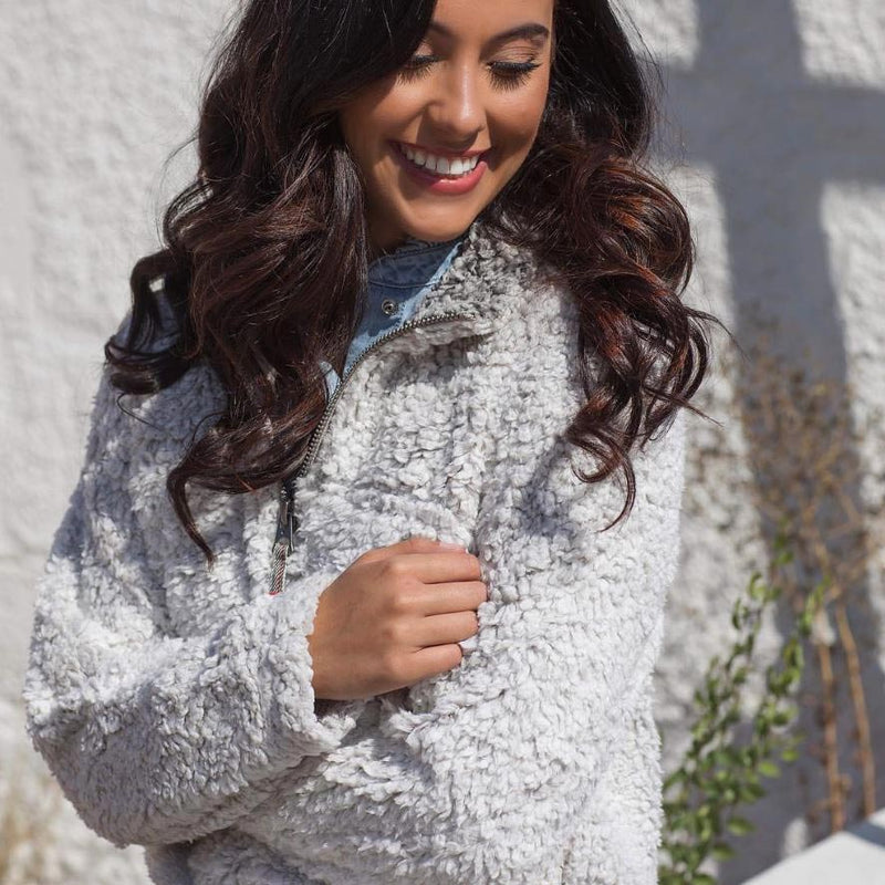 Frosty Tipped Women's Stadium Pullover - Dylan - The Sherpa Pullover Outlet