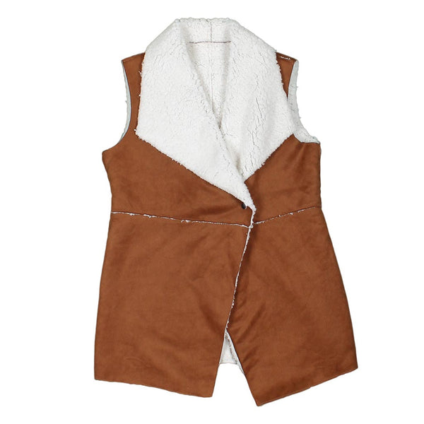 Viskan Shearling Snap Vest by Nordic Fleece - Nordic Fleece - The Sherpa Pullover Outlet