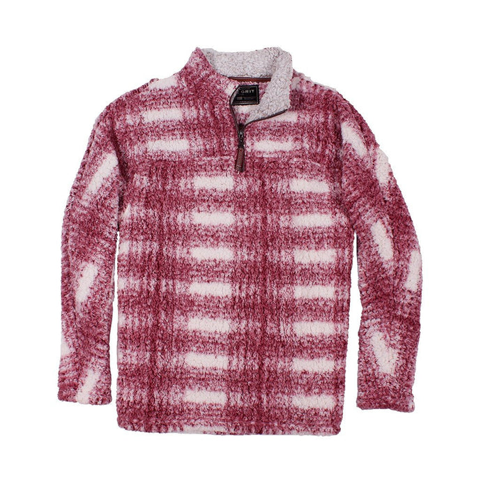 Frosty Tipped Big Plaid Pile Pullover - FINAL SALE