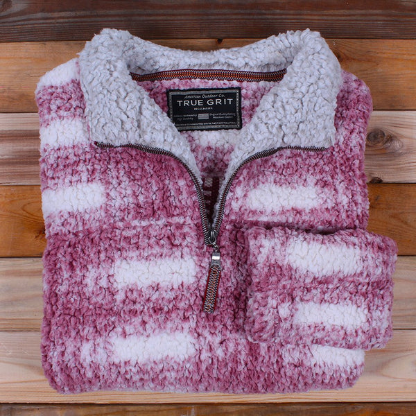 Frosty Tipped Big Plaid Pile Pullover - True Grit - The Sherpa Pullover Outlet