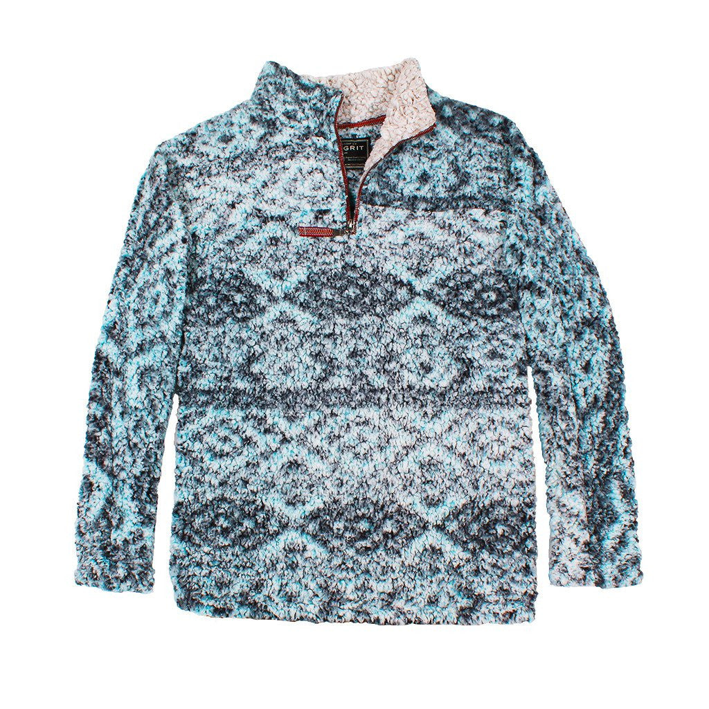 f5f7373c2196 True Grit Frosty Tipped Tribal Pile Pullover – The Sherpa Pullover Company