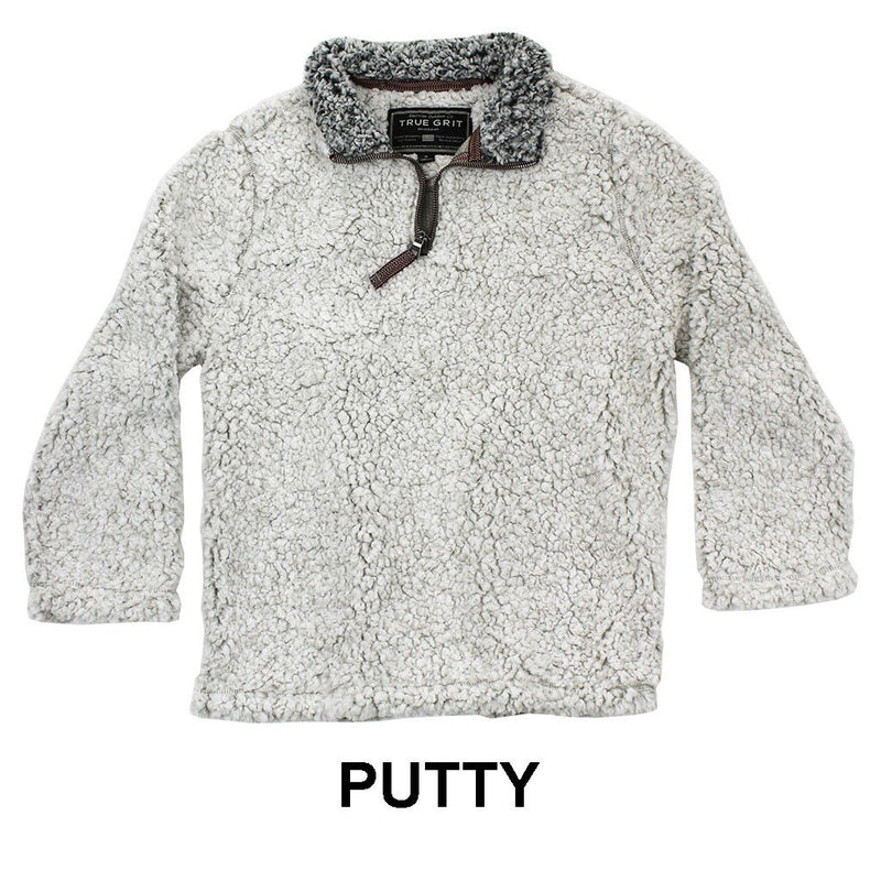 YOUTH Frosty Tip 1/4 Zip Pullover - True Grit - The Sherpa Pullover Outlet