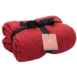 Watson Fluffy Pile & Tartan Blanket in Washed Red by Southern Marsh - Southern Marsh - The Sherpa Pullover Outlet