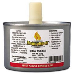 * Chafing Fuel Can, Stem Wick, 4-6hr Burn, 8oz, 24/Carton *