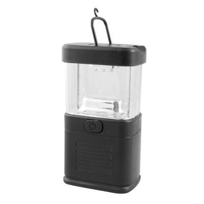 Black Clear Plastic Shell Fishing Camping 11 LED White Light Lantern