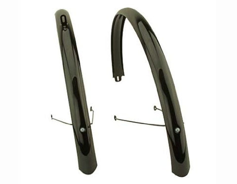 700c Stainless Steel Flat Fender Set, Black