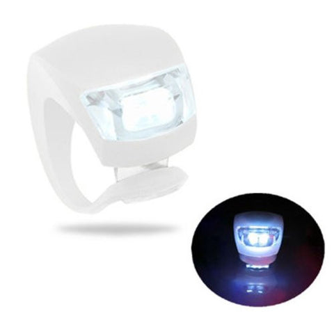 (HQ Product) Bicycle LED 3 Mode Fog Light White With 2 CR2032 battery