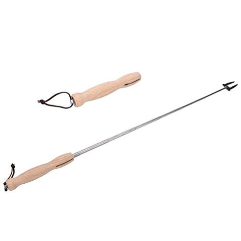 Eshylala 1 Pcs Marshmallow Roasting Stick,Stainless Steel Telescoping Roasting Forks BBQ Sticks Extendable to 31.5""