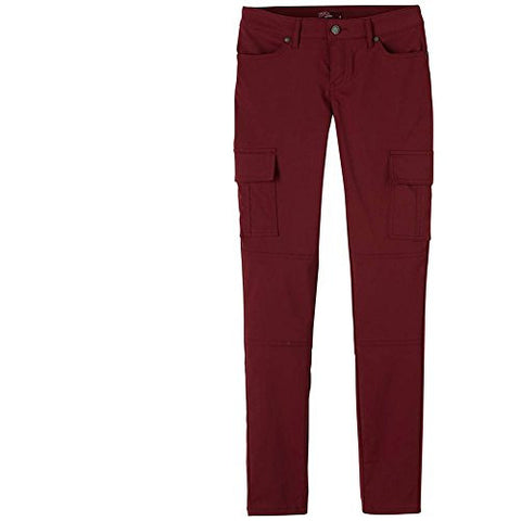 prAna Women's Meme Pants, Burgundy, Size 0