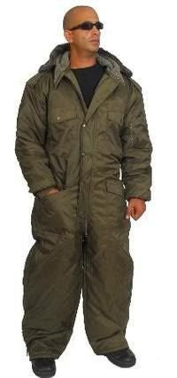 Overall Winter Snowsuit Water Resistant Olive Green. Size L