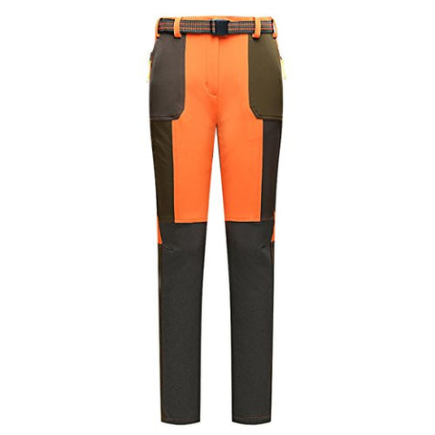 Greymu Outdoor Women Hiking Pants Hunting Climbing Camping Winter Style Trekking Sofe Shell Fleece Waterproof Wingproof