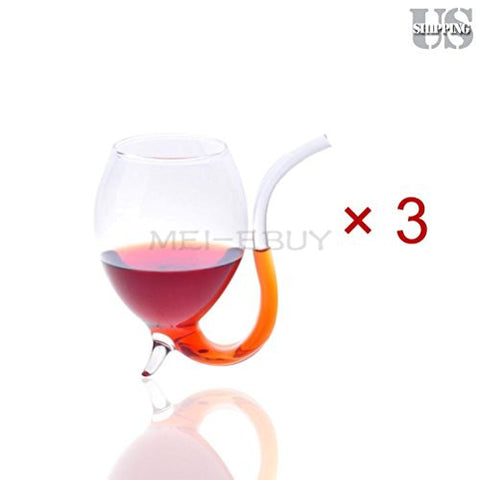 300ml Vampire Devil Red Wine Glass Cup Mug w Built in Drinking Tube (3) (6) (10)