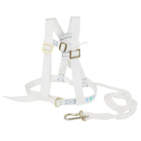 Adjustable White Nylon Leg Strap Buckle Straps Band Climbing Harness