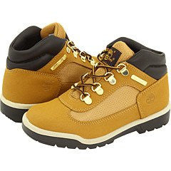 Timberland Boys' Field Boot Leather Boots,Wheat Scuffproof,2.5 M US