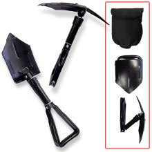 Folding Shovel with Pick and Case
