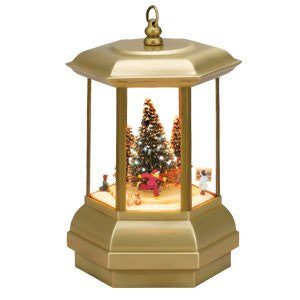 Mr. Christmas Gold Label FESTIVE LANTERN -Skaters