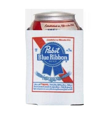 Pabst Blue Ribbon PBR Beer Can Kaddy Coolie Huggie Cooler