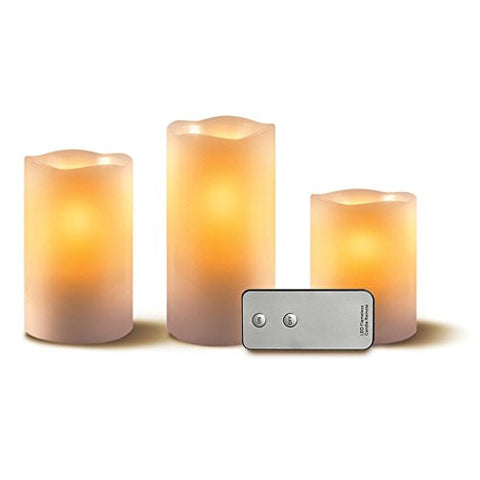 Apothecary & Company 3-Piece Candle Set with Remote, These Unique Lights Flicker And Dance Just Like Conventional Candles